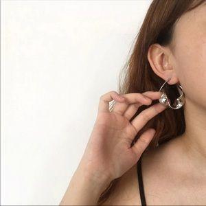 Silver or Gold Tone hoops Earrings